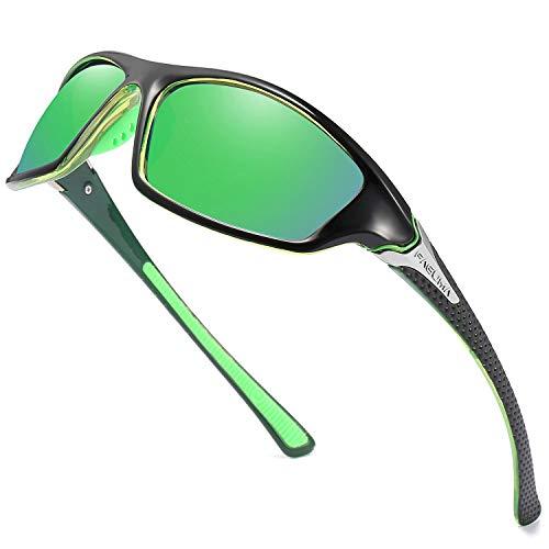 FAGUMA Gafas de sol polarizadas deportivas para hombre, ciclismo, conducción, pesca, 100% protección UV
