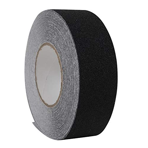 Houseables Anti Slip Tape, Grip Tapes, Black, 80 Grit, 60'x2', Treads Non Skid, Safety, High Friction, Strong Abrasive, Boats, Stairs, Ramps, Ladders, Indoor/Outdoor, Adhesive, Traction, Weatherproof