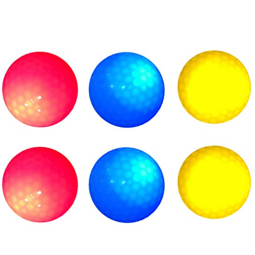 Best Price! BESPORTBLE 6pcs Night Glow Golf Ball Seven Colors Bright Golf Ball for Night Game Outdoo...