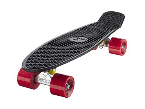 Ridge Skateboard Mini Cruiser, schwarz-rot, 22 Zoll