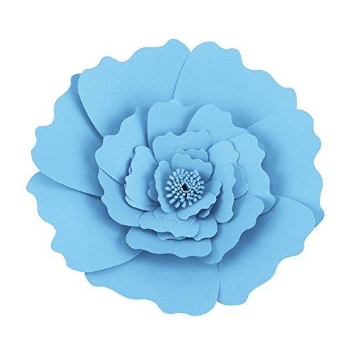 Papel de Seda del Tejido de la Flor de la artesanía decoración de Pared Colgante de Flores para el Banquete de Boda de cumpleaños(Dark Blue)