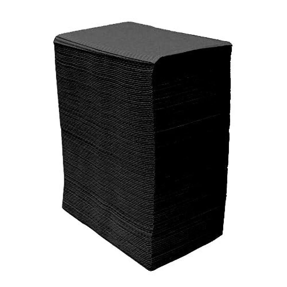 型競争力のある合体【125枚入】ネイルテーブルシート (ブラック) 防水加工 ジェルネイル ネイルペーパー ネイルマット 防水ネイルシート