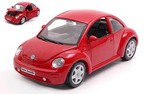 Maisto MI31975R VW New Beetle RED 1:24 MODELLINO DIE CAST Model kompatibel mit