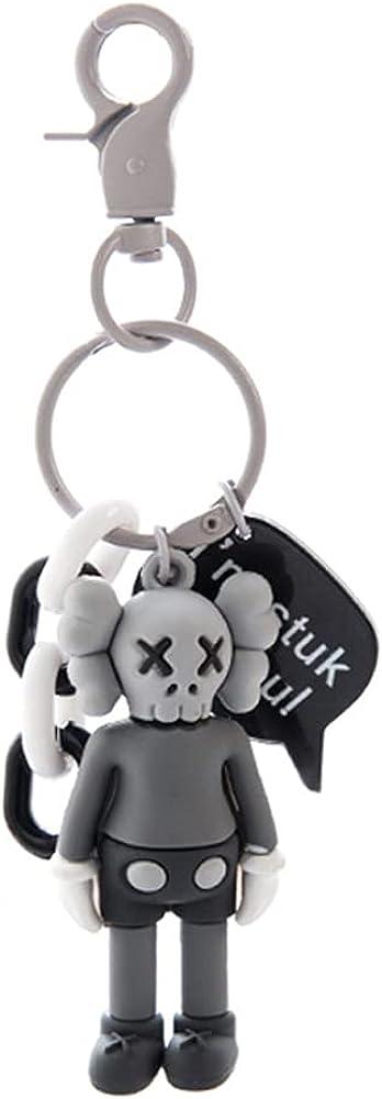 3PCS Action Figure Keychain Fashion Bag Pendant Cartoon Dolls Key Chain Keyrings Gift For Kids Toy Decoration