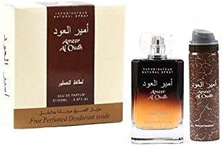 Eau De Parfum Ameer Al Oud 100ml with Spray Deodorant for Unisex