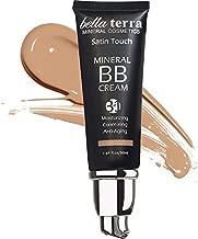 Bella Terra BB Cream Tinted Moisturizer, Mineral Foundation, Concealer, Anti-Aging, Natural Sun Protection, All Shades 1.69oz - Medium 104