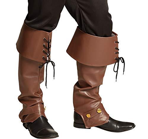 Unbekannt Accesorios de Disfraces para Hombres con puños y Botas Abrigo de Abrigo Robin Hood Marrón en Cuero