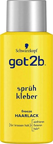 Schwarzkopf got2b sprühkleber freeze Haarlack mini, 100 ml
