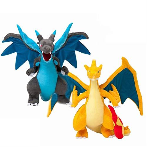 hzwh Peluche, 2 Piezas De Peluche, 23 Cm Charizard Peluche, Mega Ex Evolution X Y Cute Ex Gx Mega Doll Dragon Plush Eevee Boy para Niños
