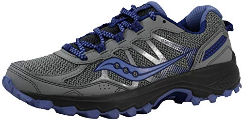 Saucony Women's Excursion TR11 Grey/Purple Running Shoe 8.5 M US