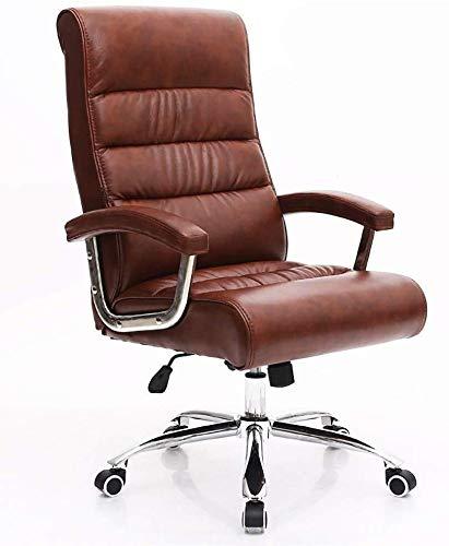 WSHFHDLC Silla giratoria moderna minimalista para el hogar, silla de oficina de cuero, silla de oficina, silla giratoria, silla de reunión, silla giratoria (color: B)