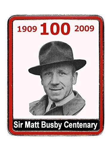 Manchester United FC Sir Matt Busby 100 Years Badge – MUFC Man United Football Club Souvenir Geschenk