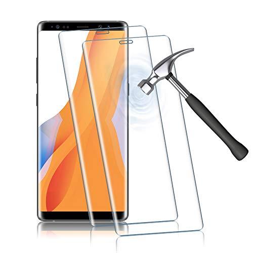 Agedate 2 Stück Panzerglas Schutzfolie für Samsung Galaxy Note 8, HD Panzerglasfolie für Galaxy Note 8, Anti-Scratch, Anti-Fingerabdruck, Fallfreundlich Displayschutzfolie (Transparent)