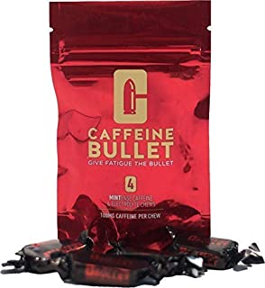 Caffeine Bullet 16 mint chews – outperforms energy chews,gels, gum and tablets. 100mg caffeine boost for marathon running, cycling and the gym. A pre workout sports nutrition shot for endurance sports