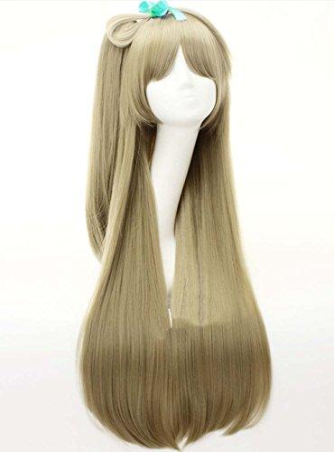 etruke longue ligne droite Cheveux synthétiques femmes Love Live à clipser pour queue de cheval cosplay perruques