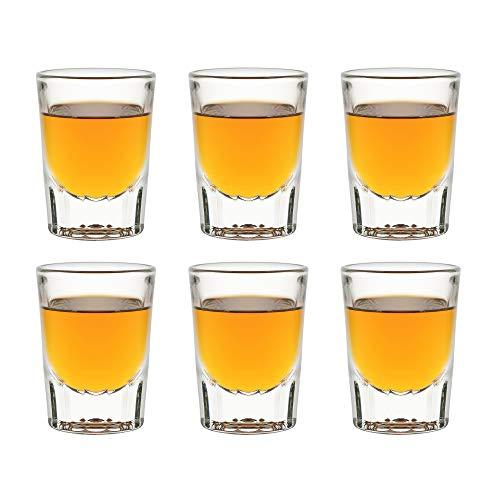 Libbey Fluted Whiskey - 59 ml   5.9 cl - Bicchieri da liquore - 6 Pezzi - Lavabili in lavastoviglie