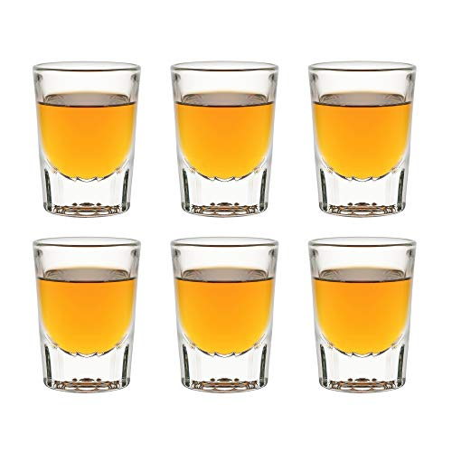 Libbey Vasos de chupito Fluted Whiskey – 59 ml / 5,9 cl – 6 unidades – vasos de chupito – vasos de chupito – aptos para lavavajillas