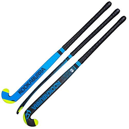 KOOKABURRA Alert, Bastone da Hockey Unisex-Adulto, Nero Blu, 36,5 L