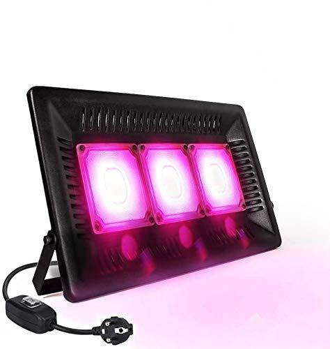 Relassy Lámpara de Planta 150W, COB LED Cultivo Full Spectrum Lámpara de Crecimiento, IP67 Lámpara de Cultivo Impermeable para Invernadero, Plantas de Interior, Hidroponía