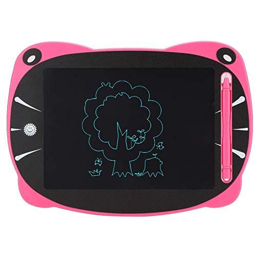 Bloc de notas con forma de orejas de gato de cara grande, tablero de escritura LCD extraíble de un botón con un botón, pintura de 8.5 pulgadas, regalo de cumpleaños (ventiladores)
