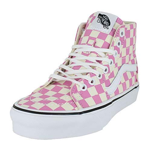 Vans Unisex Lady Sk8-Hi Sneaker, Pink (Fuchsia/Rosa kariert), 40 EU