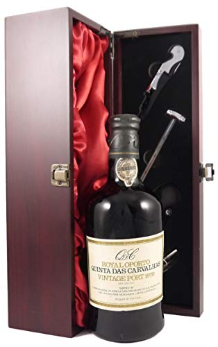 Photo of Royal Oporto Quinta Das Carvalhas 1970 Vintage Port in a wooden box with four wine accessories 1 x 750ml