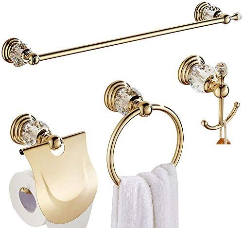 Creatividad Papel higiénico de oro del sostenedor del anill