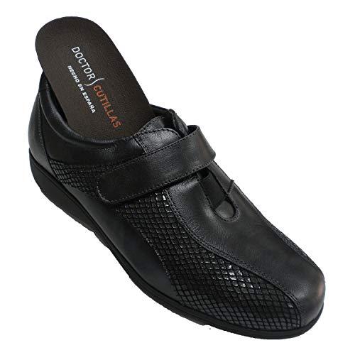 Zapato Velcro Mujer Especial para Plantillas Muy cómodo Doctor Cutillas en Negro...