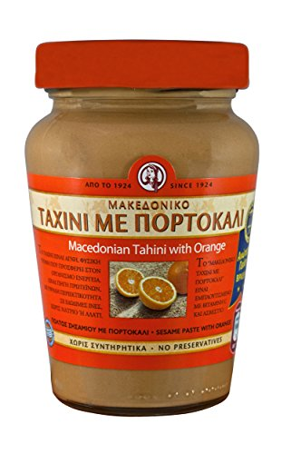 Pasta de sésamo Tahini con naranja de Macedonia (350g) Pasta de sésamo Pasta de sésamo crema marrón Taxini