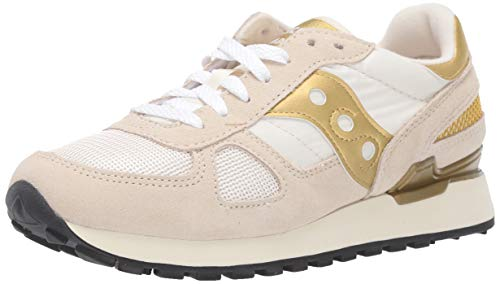 Saucony Damen Shadow ORIGINAL Turnschuh, Weiß/Gold, 36.5 EU