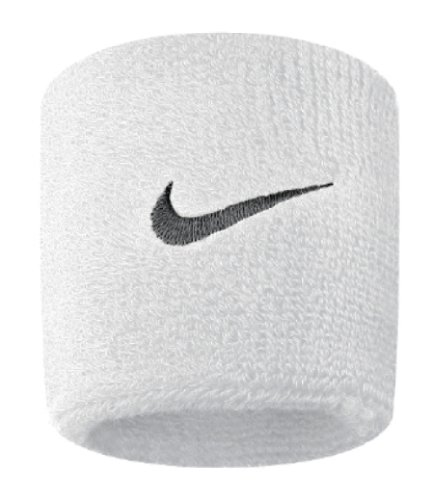 Nike Swoosh Wristbands (White/Black, OSFM)