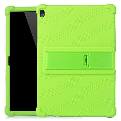 CellphoneParts BZN FOR Lenovo Tab M10 Tablet PC Funda Protectora de Silicona con Soporte Invisible (Color : Green)