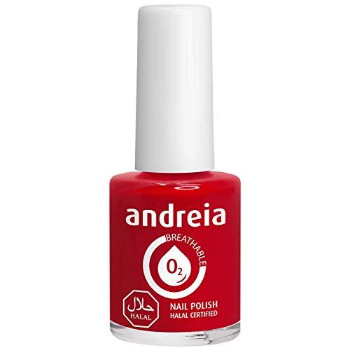 Andreia Halal Atmungsaktiver Nagellack - Wasserdurchlässig - B6 Rot - Schattierungen von Pink | 10.5 ml