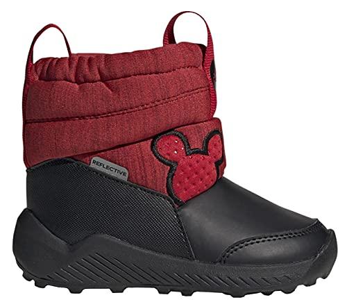 Adidas Botas para bebé Disney Rapida Snow Mickey I, Rojo Negro G27540, 27 EU