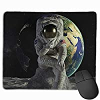 ビクトリー 宇宙飛行士 地球 マウスパッド 運びやすい オフィス 家 最適 おしゃれ 耐久性 滑り止めゴム底付き 快適操作性 30*25*0.3cm