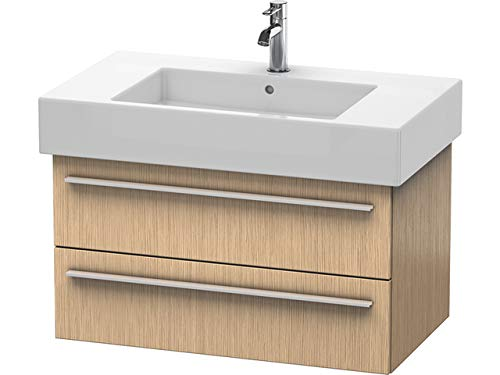 Duravit X-Large ijdelheidsmeubel wand opgehangen 6352, 2 lades, 800mm voor Vero, Kleur (voorzijde/karkas): Eikenhout geborsteld echt houtfineer - XL635201212