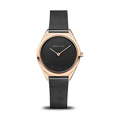 BERING Reloj Analógico Ultra Slim Collection para Unisex de Cuarzo con Correa en Acero Inoxidable y Cristal de Zafiro 17031-166