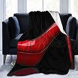 Minalo Manta de Tiro Ligero Suave Cálido,Sex Women Shoes Red Tacones Altos en diseño Negro,Microfibra Toda la Temporada Sala de Estar/Dormitorio/sofá Cama edredón de Franela,40' x 50'
