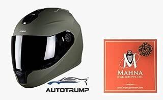 Steelbird Hunk Full Face Helmet With MJ Brand 5 mukhi Rudraksh (Military Green, M)