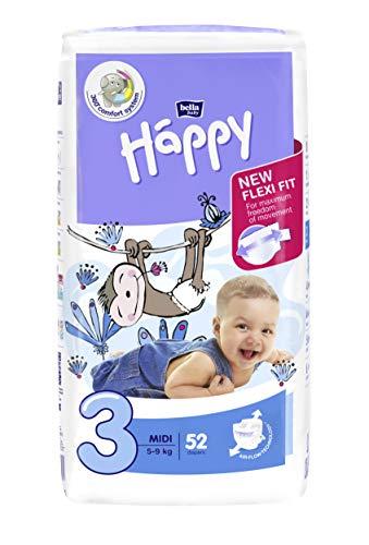 Bella Baby Happy pannolini Midi taglia 3 (5-9 kg)52 pezzi (52)