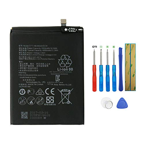 Swark HB396689ECW - Batería compatible con Huawei Ascend Mate 9, Mate 9, MHA-L09, MHA-L29, MHA-TL00 con herramientas