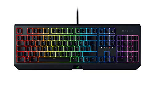 Razer BlackWidow Green Switch - Tastiera meccanica da gaming full-size, Archiviazione ibrida su memoria integrata e cloud, cable-routing, Tasti completamente controllabili, Nero, Italiano Layout