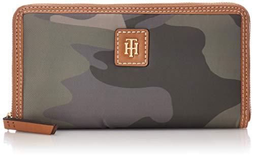 Tommy Hilfiger Julia Large Nylon Zip Wallet, Green