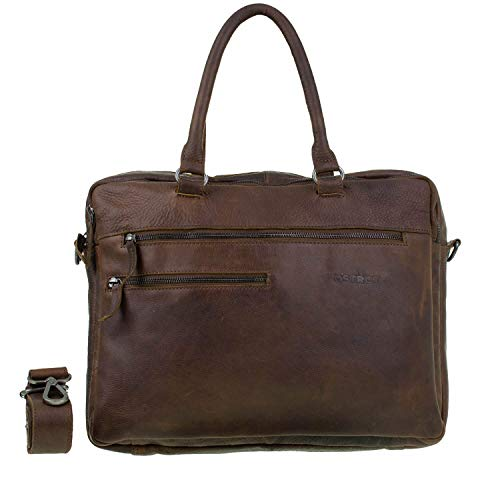 DSTRCT Raider Road Ohio Laptoptas 15,6 inch Cognac