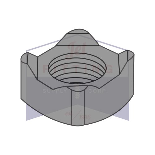 M8-1.25 Square Weld Nuts   4 Projections   Steel   Plain Finish   DIN92 (Quantity: 3000)