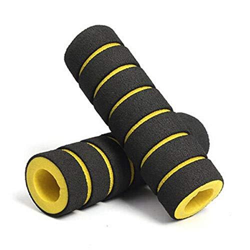 DINGQING 3 Paar, Double Lock auf Locking BMX Mountainbike-Zyklus-Fahrrad-Lenker Farbe: Gelb + Schwarz,Gelb