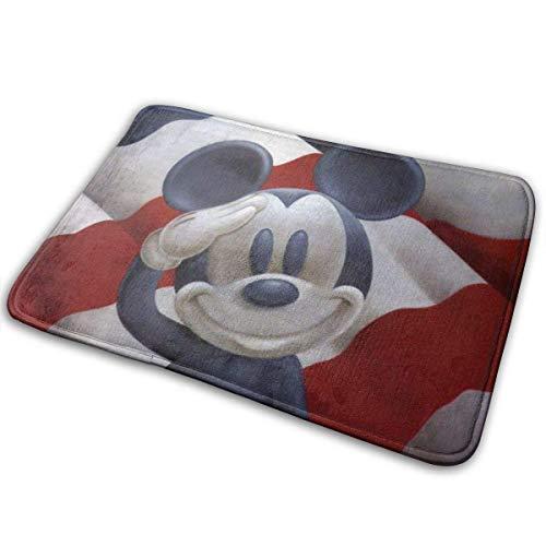 xinping Felpudo antideslizante de forro polar coral para interiores y exteriores, alfombra de piso de cocina, 15.7 x 23.5 pulgadas, con diseño de ratón