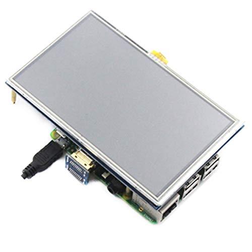 Pantalla táctil LCD HDMI de 5 pulgadas Módulo de panel TFT LCD 800 * 480 para Raspberry Pi 4 Modelo B 3B + / 3B / 2B / B +