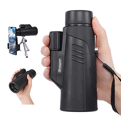 Monocular for Adults, 10X 42 Monoscope High Power Monocular Telescope with Smartphone Holder & Tripod, HD Zoom Starscope with FMC Lens & BAK4 Prism, Fit for Bird Watching Hiking Camping Stargazing