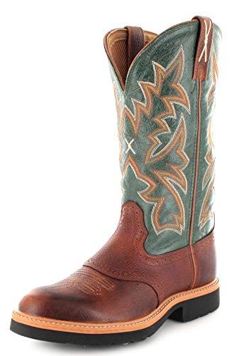 Twisted X Boots Herren Cowboy Stiefel 1753 Cowboy Work Westernreitstiefel Lederstiefel Braun 44 EU
